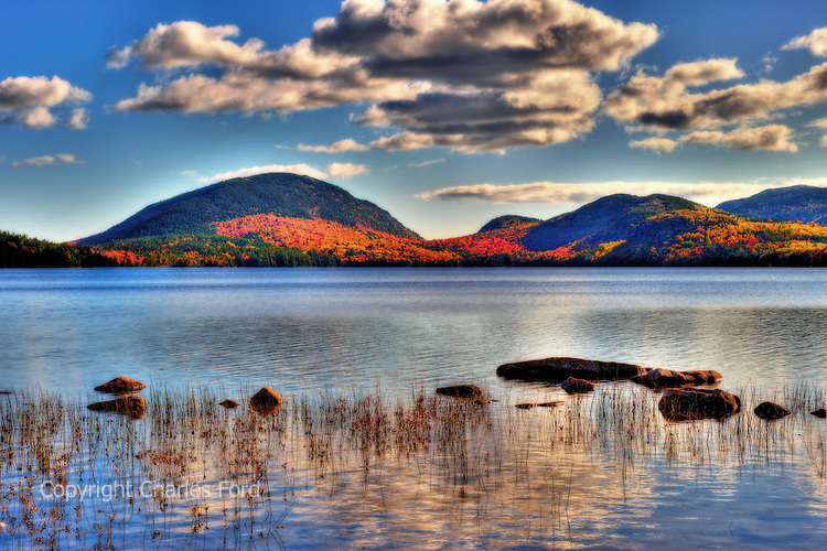 High Dynamic Range (HDR) image of Eagle Lake, Acadia National Park, Maine.