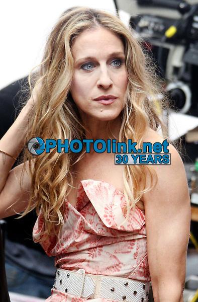 Sarah Jessica Parker filming ''Sex In The City'' 2007<br /> Photo By John Barrett/CelebrityArchaeology.com