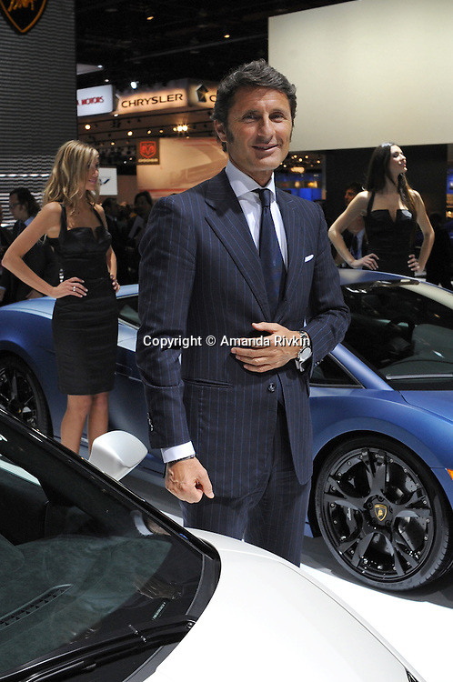Lamborghini CEO Stephan Winkelmann poses after the Lamborghini presentation at the Detroit Auto Show in Detroit, Michigan on January 11, 2009.