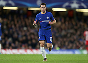 5th December 2017, Stamford Bridge, London, England; UEFA Champions League football, Chelsea versus Atletico Madrid; Cesar Azpilicueta of Chelsea gets into position