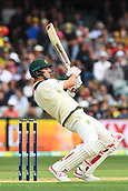 3rd December 2017, Adelaide Oval, Adelaide, Australia; The Ashes Series, Second Test, Day 2, Australia versus England; Mitchell Starc of Australia ducks to avoid a bouncer
