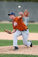 January 16, 2010:  Monty McDasland (Bushland, TX) of the Baseball Factory Texas Team during the 2010 Under Armour Pre-Season All-America Tournament at Kino Sports Complex in Tucson, AZ.  Photo By Mike Janes/Four Seam Images