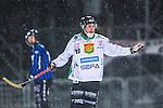Uppsala 2014-01-12 Bandy  IK Sirius - GAIS Bandy :  <br />  GAIS Jimmy Jansson sl&aring;r ut med armarna och reagerar efter i samband med ett domslut<br /> (Foto: Kenta J&ouml;nsson) Nyckelord:  portr&auml;tt portrait