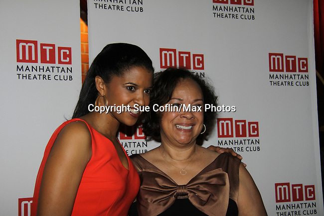 One Life To Live's Renee Elise Goldsberry poses with her mom Betty Sanders - Opening Night of Broadway's Good People on March 3, 2011 at the Samuel J. Friedman Theatre, New York City, New York with the after party was at B.B. Kings, NYC. (Photo by Sue Coflin/Max Photos)