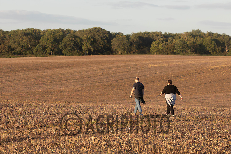 9.9.2020 Walkers crossing a field <br /> ©Tim Scrivener Photographer 07850 303986<br />      ....Covering Agriculture In The UK.