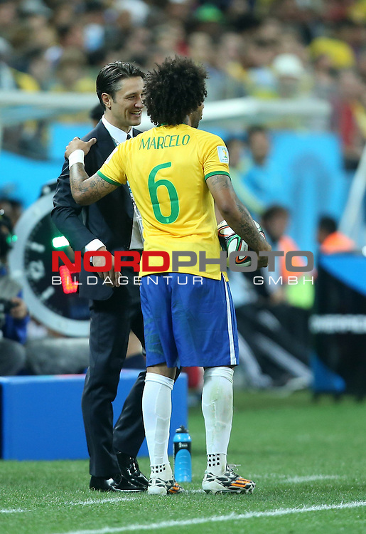 2014 Fifa World Cup opening game from group A against Brazil and Croatia.<br /> Marcelo, Niko Kovac<br /> <br /> Foto &copy;  nph / PIXSELL / Sajin Strukic
