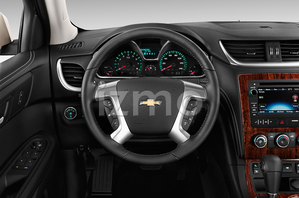 Steering wheel view of a 2013 Chevrolet Traverse 1LT SUV