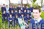 Paul Moloney Firies who won a competition to take his class mates in St Brendan's College Killarney to Michael Collins the musical in Cork Opera House last Tuesday front row l-r: Ciaran O'Donnell, Christopher Murphy, Neilie McEnteggarg, Nicolas Lotfa. Middle row: Gavin Corbett, JJ O'Leary, Cian O'Neill, Tom O'Sullivan, David Devane, Patrick Buckley, Colm Casey. Back row: David O'Leary, Cian Scanlon, Mark O'Leary, Darragh Curtin, Denis Cronin, David Doherty, Leo Dewhurst, Graham Cahill, Paul Sheehan and John O'Shea