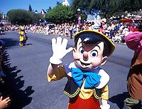 Pinocchio character at Disneyland in Anaheim California