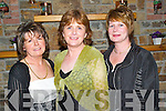 SOCIAL: Enjoying the Ballylongford GAA Social at Kirbys Lanterns Hotel, Tarbert, on Saturday night were, l-r: Peggy OConnor, Hannah Carmody and Eibhlis Hanrahan..