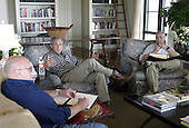 United States President George W. Bush meets with US Secretary of State Colin Powell and Deputy Secretary of State Richard Armitage at his Crawford, Texas, ranch Wednesday, August 6, 2003.<br /> Mandatory Credit: Susan Sterner / White House via CNP