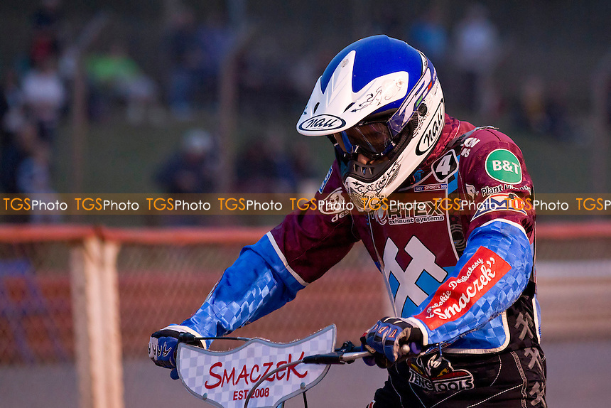 Piotr Swiderski of Lakeside Hammers - Lakeside Hammers vs Poole Pirates - Sky Sports Elite League Speedway at Arena Essex Raceway, Purfleet - 23/08/13 - MANDATORY CREDIT: Ray Lawrence/TGSPHOTO - Self billing applies where appropriate - 0845 094 6026 - contact@tgsphoto.co.uk - NO UNPAID USE