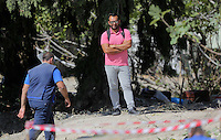 Pictured: Stefanos Troumouhis, the owner of the olive frove where the investigation is taking place in Kos, Greece. Wednesday 05 October 2016<br />