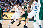 Real Madrid Luka Doncic and Panathinaikos Nick Calathes during Turkish Airlines Euroleague Quarter Finals 4th match between Real Madrid and Panathinaikos at Wizink Center in Madrid, Spain. April 27, 2018. (ALTERPHOTOS/Borja B.Hojas)