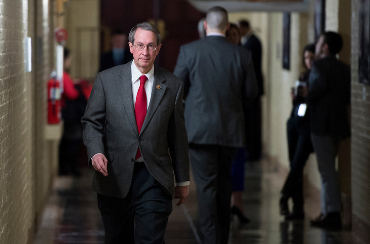 UNITED STATES - MARCH 5: Rep. Robert Goodlatte, R-Va., leaves the House Republican Conference meeting in the basement of the Capitol on Tuesday, March 5, 2013. (Photo By Bill Clark/CQ Roll Call)