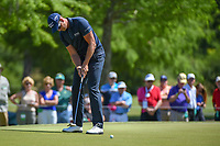 Henrik Stenson (SWE) watches his putt on 7 during Round 1 of the Zurich Classic of New Orl, TPC Louisiana, Avondale, Louisiana, USA. 4/26/2018.<br /> Picture: Golffile | Ken Murray<br /> <br /> <br /> All photo usage must carry mandatory copyright credit (&copy; Golffile | Ken Murray)