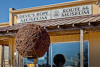 The Devils Rope Museum in McLean Texas. Devils rope was the name given to Barb wire by the open range ranchers.