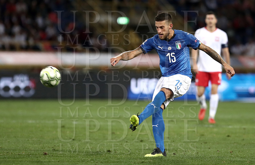 Football: Uefa Nations League match Italy vs Poland, Renato Dall'Ara stadium, Bologna, Italy, September 7, 2018. <br /> Italy's Cristiano Biraghi in action during the Uefa Nations League match between Italy and Poland at the Renato Dall'Ara stadium, Bologna, Italy, September 7, 2018. <br /> <br /> UPDATE IMAGES PRESS/Isabella Bonotto