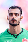 Goalkeeper Sayed Shubbar Alawi of Bahrain prior to the AFC Asian Cup UAE 2019 Group A match between Bahrain (BHR) and Thailand (THA) at Al Maktoum Stadium on 10 January 2019 in Dubai, United Arab Emirates. Photo by Marcio Rodrigo Machado / Power Sport Images