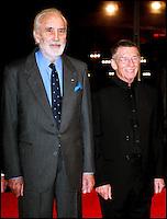 CHRISTOPHER LEE ET JOHN HURT - HOMMAGE A LA DELEGATION BRITANNIQUE DU CINEMA - 8EME FESTIVAL INTERNATIONAL DU FILM DE MARRAKECH 2008.