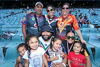 Fans await the kick off. Sydney Roosters v Vodafone Warriors, NRL Rugby League. Allianz Stadium, Sydney, Australia. 31st March 2018. Copyright Photo: David Neilson / www.photosport.nz