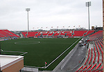 28 April 2007: A view of the South Stand from behind the north end scoreboard. Major League Soccer expansion team Toronto FC lost 1-0 to the Kansas City Wizards in the inaugural game at BMO Field in Toronto, Ontario, Canada, the first MLS game played outside of the United States.