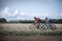 Belgian Champion Tim Merlier (BEL/Corendon Circus) and Guillaume Boivin (CAN/Israel Cycling Academy) tries to cross the gap to the race leaders<br /> <br />  Antwerp Port Epic 2019 <br /> One Day Race: Antwerp > Antwerp 187km<br /> <br /> ©kramon