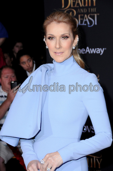 "02 March 2017 - Hollywood, California - Celine Dion. Los Angeles premiere of Disney's ""Beauty and the Beast' held at El Capitan Theatre. Photo Credit: Birdie Thompson/AdMedia"