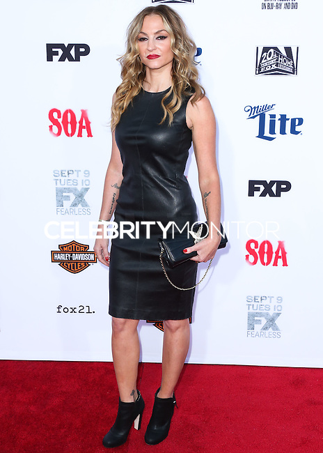 HOLLYWOOD, LOS ANGELES, CA, USA - SEPTEMBER 06: Actress Drea de Matteo arrives at the Los Angeles Premiere Of FX's 'Sons Of Anarchy' Season 7 held at the TCL Chinese Theatre on September 6, 2014 in Hollywood, Los Angeles, California, United States. (Photo by Xavier Collin/Celebrity Monitor)