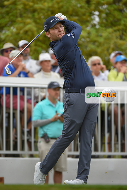 Brandon Grace (RSA) watches his tee shot on 7 during day 4 of the WGC Dell Match Play, at the Austin Country Club, Austin, Texas, USA. 3/30/2019.<br /> Picture: Golffile   Ken Murray<br /> <br /> <br /> All photo usage must carry mandatory copyright credit (© Golffile   Ken Murray)