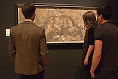 """Pictured: The Sacrifice of Isaac, 1586 by Andrea Andreani (1558/59-1629) after Beccafumi. Press preview of the exhibition """"Renaissance Impressions: Chiaroscuro Woodcuts from the Collections of Georg Baselitz and the Albertina, Vienna"""", opens at the Royal Academy of Art on 15 March 2014. The exhibition at the Sackler Wing of Galleries runs from 15 March to 8 June 2014 and presents over 150 rare prints by the chief practitioners of the Chiaroscuro woodcutting technique in Germany, Italy and the Netherlands held at the Albertina Museum in Vienna and in the personal collection of the Honorary Royal Academian Georg Baselitz."""