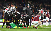 Newcastle United's Martin Dubravka save an attempt at goal in the final seconds of the match by Burnley's Sam Vokes <br /> <br /> Photographer Rachel Holborn/CameraSport<br /> <br /> The Premier League - Burnley v Newcastle United - Monday 26th November 2018 - Turf Moor - Burnley<br /> <br /> World Copyright &copy; 2018 CameraSport. All rights reserved. 43 Linden Ave. Countesthorpe. Leicester. England. LE8 5PG - Tel: +44 (0) 116 277 4147 - admin@camerasport.com - www.camerasport.com