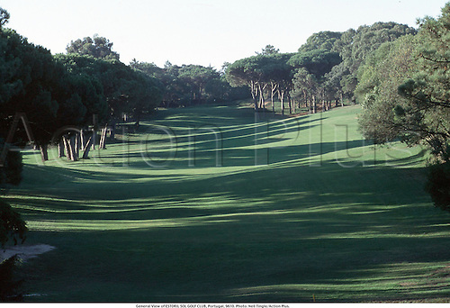 General View of ESTORIL SOL GOLF CLUB, Portugal, 9610. Photo: Neil Tingle/Action Plus....1996.courses course.venues venue