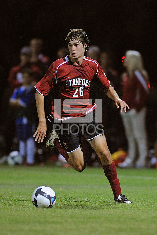 STANFORD, CA - AUGUST 25:  Taylor Amman of the Stanford Cardinal during Stanford's 0-0 tie with the St. Mary's Gaels at Laird Q. Cagan Stadium on August 25, 2009 in Stanford, California.