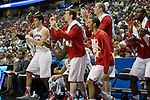 Wisconsin Badgers cheer during a regional semifinal NCAA college basketball tournament game against the Baylor Bears Thursday, March 27, 2014 in Anaheim, California. The Badgers won 69-52. (Photo by David Stluka)