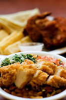 A chicken dish at the new Dallas, Texas location of Guatemalan based Pollo Campero, Friday, March 28, 2008. The company, which is competitive with McDonald's in Guatemala, hopes to open more than 1500 locations in the United States...MATT NAGER/ SPECIAL CONTRIBUTER