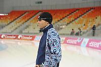 SPEEDSKATING: SOCHI: Adler Arena, 21-03-2013, Training, Kosta Poltavets (head coach Team Russia), © Martin de Jong
