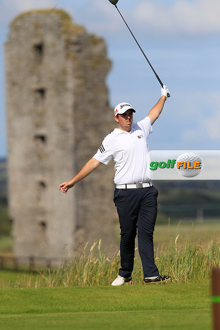 Alan Lowry (Esker Hills) on the 13th tee during Round 2 of the South of Ireland Amateur Open Championship at LaHinch Golf Club on Thursday 23rd July 2015.<br /> Picture:  Golffile | Thos Caffrey