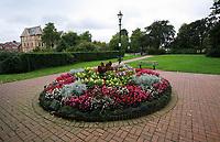 A park in Llandrindod Wells in Powys, mid Wales, UK