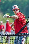 20 March 2015: Washington Nationals Manager Matt Williams tosses batting practice prior to a Spring Training game against the Houston Astros at Osceola County Stadium in Kissimmee, Florida. The Nationals defeated the Astros 7-5 in Grapefruit League play. Mandatory Credit: Ed Wolfstein Photo *** RAW (NEF) Image File Available ***