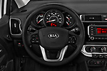 Car pictures of steering wheel view of a 2016 KIA Rio LX 5 Door Hatchback Steering Wheel