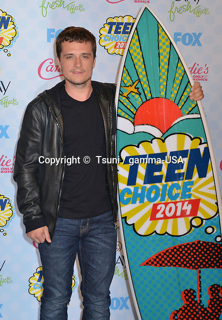 Josh Hutcherson 216 at Teen Choice Awards 2014 qt the Shrine Auditorium in Los Angeles.