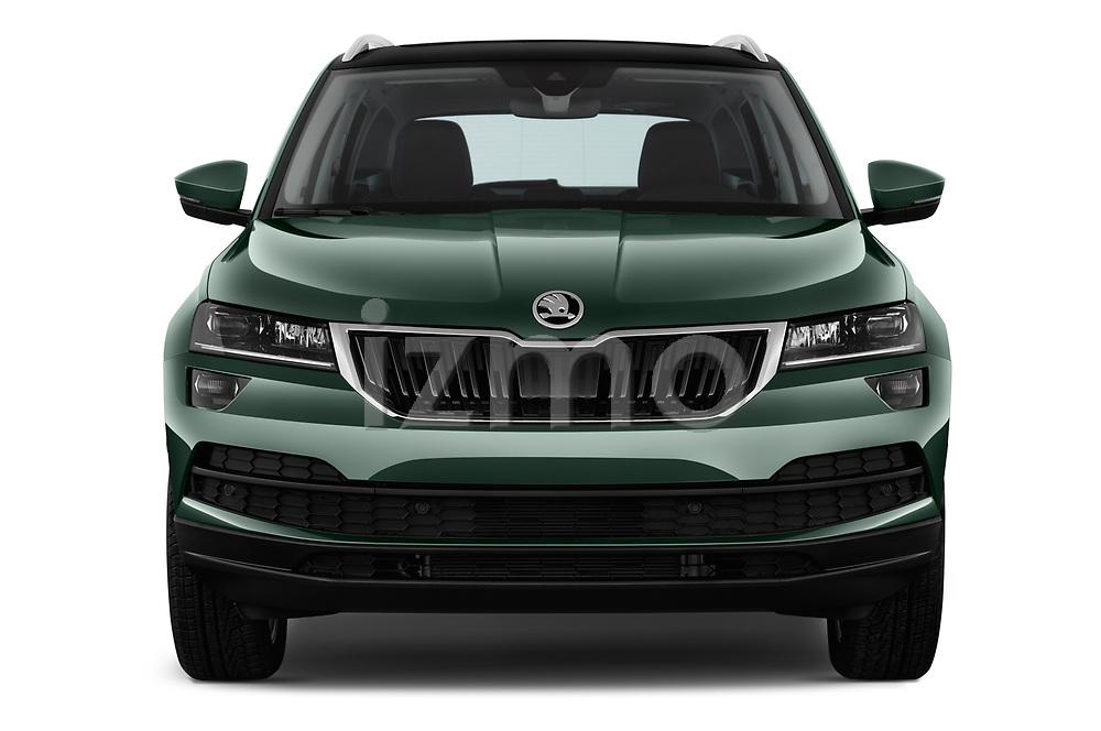 Car photography straight front view of a 2018 Skoda Karoq Style 5 Door SUV