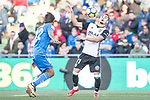 Zakaria Bakkali of Valencia CF  in action during the La Liga 2017-18 match between Getafe CF and Valencia CF at Coliseum Alfonso Perez on December 3 2017 in Getafe, Spain. Photo by Diego Gonzalez / Power Sport Images