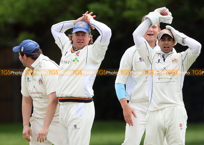 Hornchurch Athletic are unsuccessful in their appeals for a wicket - Hornchurch Athletic CC vs Newham CC, Essex League at Hylands Park, Hornchurch - 09/06/12 - MANDATORY CREDIT: Rob Newell/TGSPHOTO - Self billing applies where appropriate - 0845 094 6026 - contact@tgsphoto.co.uk - NO UNPAID USE..