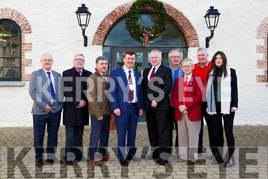 Pat Dawson welcomes Kerry County Council Chairman John Sheahan and fellow councillors to Killarney House for the Council's December meeting on Monday l-r: Cllr John Lucid, Cllr Bobby O'Connell, Cllr Michael O'Shea, Mayor John Sheahan, Pat Dawson, Cllr Michael Gleeson, Cllr Donal Grady, Harry O'Donoghue and Cllr Maura Healy-Rae