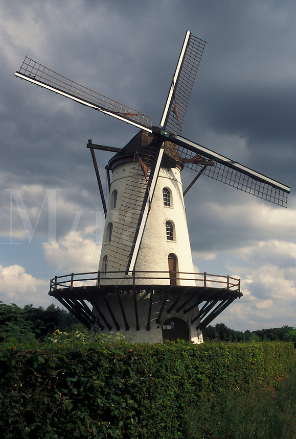 windmill, Belgium, Europe, Windmill in Vlaanderen County.