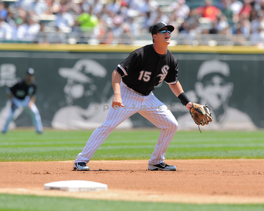 GORDON BECKHAM,of the Chicago White Sox in action during the White Sox  game against the Los Angeles Angels.  The Angels beat the White Sox  9-5 in Chicago, Illinois on August 6, 2009...David Durochik