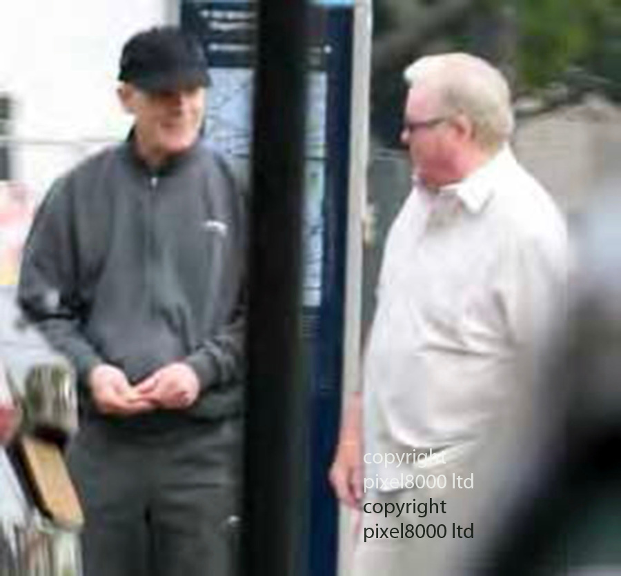 """Trial of Michael Seed  - known as """"Basil""""  - over the Hatton Garden security deposit box raid.<br /> <br /> police surveillance pictures from 2015 show:  Michael Seed - with Hatton Garden robber John Collins - who was jailed for the raid. Collins was described as the ringleader and admitted his part in the burglary<br /> <br /> <br /> <br /> Picture by Pixel8000 07917221968"""