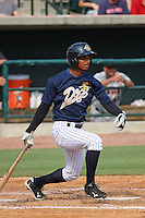 Charleston Riverdogs outfielder Eduardo Sosa #2 at bat during a game against the Delmarva Shorebirds at Joseph P. Riley Ballpark in Charleston, South Carolina on July 10, 2011. Charleston defeated Delmarva 5-4 in the 2nd game of a doubleheader.   Robert Gurganus/Four Seam Images